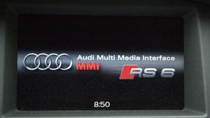 Audi MMI Startbildschirm RS6