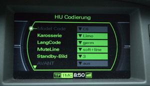 Headunit Codierung beim Audi MMI