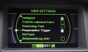 Audi MMI 2G Hidden Menu / Entwickler-Menü