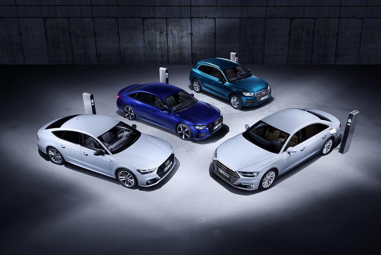 Die neuen Plug-in-Hybrid-Modelle Audi Q5, A6, A7 und A8