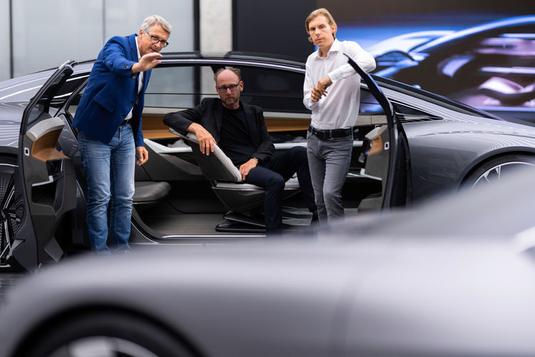 Norbert Weber, Leiter Design Interieur; Marc Lichte, Leiter Design; Philipp Römers, Leiter Design Exterieur.